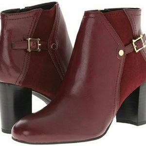 NWOB Franco Sarto Deora Burgundy Boots, 6M